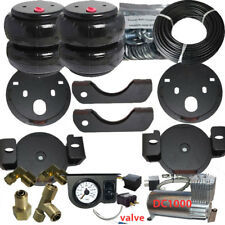 Air Helper Spring Kit Bolt On 2001 - 2010 Chevy GMC 2500 Load Level with Gauge