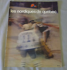 1977-78 WHA Quebec Nordiques vs Edmonton Oilers Hockey Program