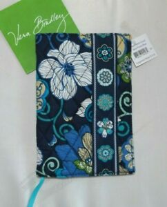 VERA BRADLEY Paperback Book Cover -  Mod Floral Blue - New with Tag