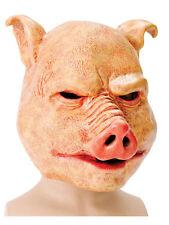 Adulto Halloween Horror Látex Overhead Pig Farm Animal Disfraz Máscara Nuevo