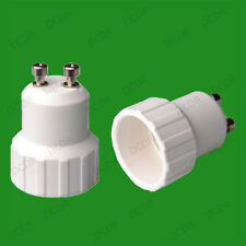 20x Gu10 a pequeño tornillo E14 ses Bombilla Socket Lámpara Adaptador Convertidor Titular