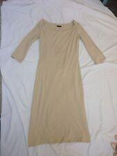 Dress - Mid Calf Long Sleeve, Scoop Neck