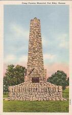 LINEN PC - CAMP FUNSTON MEMORIAL, FT. RILEY, KANSAS- 1930's