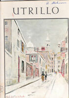 UTRILLO by EDWARD WERNER / 1952 / COLOUR PLATES