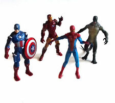 """Marvel Comics UNIVERSO 3.75"""" figure giocattolo Ironman, Cap America, Spiderman, Lucertola"""
