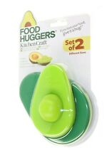 KITCHEN CRAFT FOOD HUGGERS EXTEND LIFE OF A AVOCADO X 2 DIFFERENT SIZES NEW
