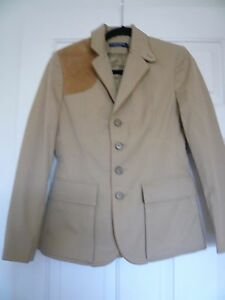 NWT $598 RALPH LAUREN BLUE LABEL SUEDE PATCH  SZ 2, MADE IN ITALY