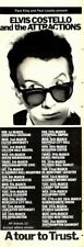 """7/2/81Pgn33 ELVIS COSTELLO AND THE ATTRACTIONS TOUR DATES ADVERT 15X5"""""""