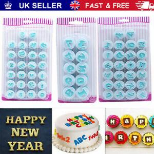 26 Alphabet Letter Number Fondant Cake Biscuit Baking Mould Decor Cutters Mold