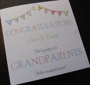 Personalised New Baby Grandparents / Grandparents To Be Card Unisex Girl Boy(B6)