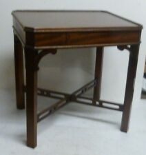 Vintage J Sydney Smith Side Table with Concealed Drawer