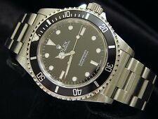 Rolex Submariner Mens Stainless Steel No Date Sub Watch Black Dial Bezel 14060M