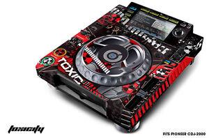 Skin Decal Sticker Wrap for Pioneer CDJ 2000 Turntable DJ Mixer Pro Audio TOXIC