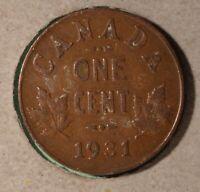 1931 Canada Small Cent - SEMI KEY DATE -  Inv# H-01