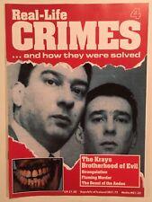 Real-Life Crimes Magazine #4 Super Mafia Bros Ronnie & Reggie Kray True Crime UK