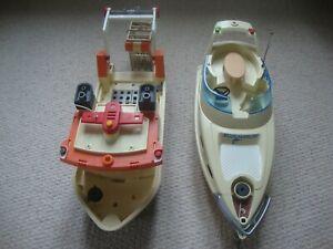 Playmobil Boats x 2 - 5205 Luxury Yacht and Coast Guard Boat