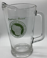New Glarus Brewing Co Wisconsin Heavy Glass Pitcher Great Condition