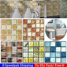 20pcs/set DIY Waterproof Self Adhesive 3D Wall Stickers Mosaic Tile Decal Decor