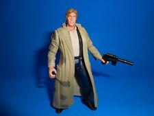 Star Wars 1997 Potf Vintage Style Han Solo Endor Trenchcoat Blue Pants ~ Blaster