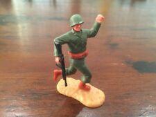 Timpo WW2 - US/ American Army - Infantryman With Machine Gun Running - 1970's