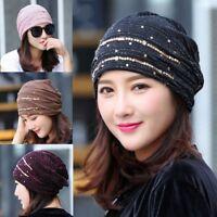 Women Ladies Chiffon Ruffle Cancer Chemo Hat Beanie Scarf Turban Head Wrap Cap