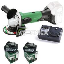 Kit meuleuse sans fil 115 mm Hitachi G18DSL chargeur + 2 batteries 18V 6Ah