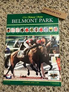 MINT 1999 BELMONT STAKES PROGRAM HALL OF FAME SILVERBULLETDAY CHARISMATIC HOY