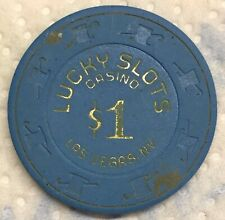 Lucky Slots Casino Obsolete $1 Top Hat and Cane Mold Casino Chip
