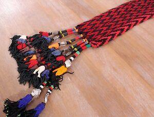 "4.33"" x 25.20"" Tassel Hair Dress Belly Dance Uzbek VINTAGE FASTShipmentUPS 11493"