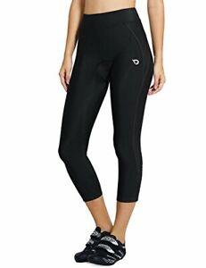 BALEAF Women's 3D Padded Cycling Pants Bike Shorts Capris 3/4 Tights Size Small