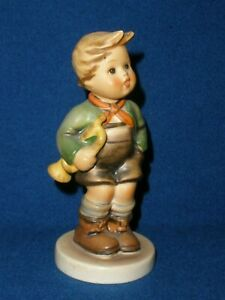 Vintage HUMMEL GERMANY Boy with a Trumpet FIGURINE Very Good Condition