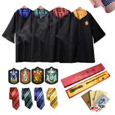 Harry Potter Hogwarts Adult Child Robe Cloak Halloween COS Costumes Party Xmas