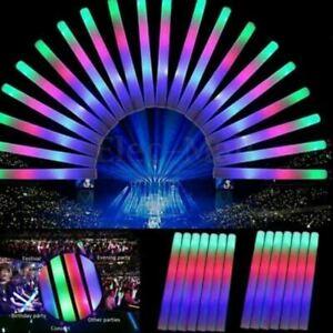 30PCS LED Flashing Glow Stick Light Up Foam Wands for Rally Rave Batons Concert