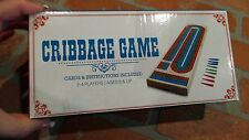 Brybelly Wooden 3 Track Cribbage Board with Free Deck of Cards NEW IN BOX Gift