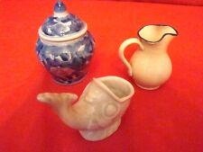 lot de 3 petits objets en porcelaine et faïence