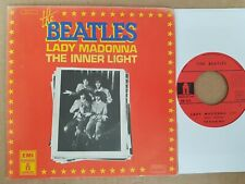 THE BEATLES  rare french SP 45  ODEON  LADY MADONNA 1976