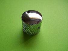 """2 x CHROME REPAIR DOME KNOBS 1/4"""" FOR FENDER GUITAR & BASS STYLE"""