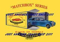 Matchbox Series Models 1959 A4 Size Poster Leaflet Shop Display Sign Advert