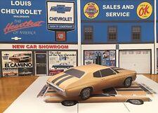 Papercraft 1970 Chevrolet Chevelle SS coupe brown Paper Model Car EZU-make