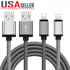 Long Braided USB Quick Charger Data Charging Cable For i Phone X 11 7 8 6S iPad