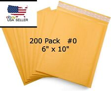 200 0 6x10 Kraft Paper Bubble Padded Envelopes Mailers Shipping Boxes Usa