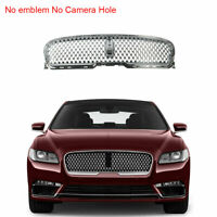 No Camera Hole Honeycomb Front Bumper Center Grille Fit For LINCOLN Continental