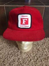 Freidheim Block Company Vintage Corduroy Trucker Hat Baseball Cap Patch Lid A