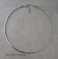 1 stainless steel neckwire necklace choker base with extender
