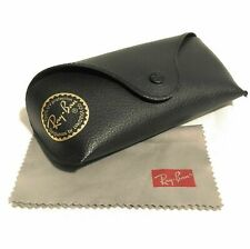 Ray-Ban Eyeglass Sunglasses Leather Case with  Microfiber Cloth
