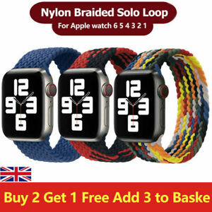 Braided Solo Loop series 6 5 4 3 strap For Apple watch band Nylon Elastic iWatch