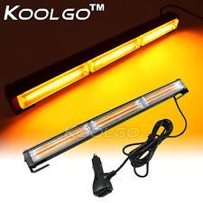 "54W COB LED Traffic Advisor Strobe Light Bar Emergency Warning Flash Amber 18"""