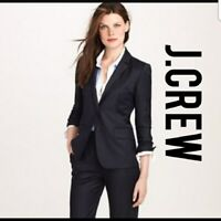 J CREW Super 120's Schoolboy 100% Wool Blazer Career Suit Jacket Size 00 ❤️tb9j9