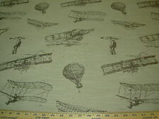 """~11 YDS~REGAL~""""FLYING MACHINES DUSK""""~EMBROIDERED UPHOLSTERY FABRIC FOR LESS~"""
