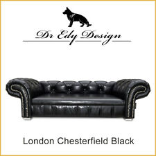 Hundesofa Hundebett Sofa Bed Couch LONDON Chesterfield Black Antik  XL